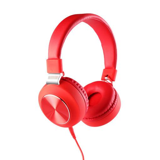 MF Product Acoustic 0102 Mikrofonlu Kablolu Kulak Üstü Kulaklık Kırmızı resmi