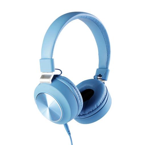 MF Product Acoustic 0102 Mikrofonlu Kablolu Kulak Üstü Kulaklık Mavi resmi