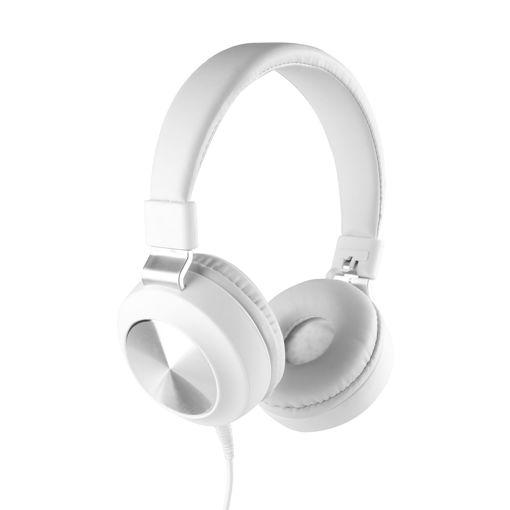 MF Product Acoustic 0102 Mikrofonlu Kablolu Kulak Üstü Kulaklık Beyaz resmi
