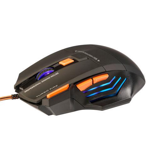 MF Product Strike 0119 Kablolu Rgb Gaming Mouse + Mouse Pad Turuncu resmi