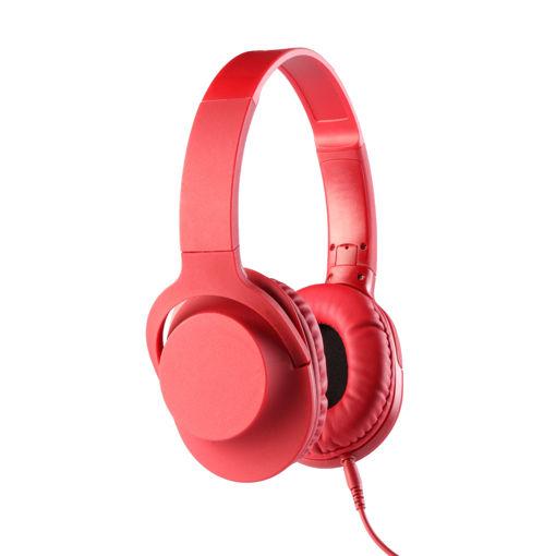 MF Product Acoustic 0105 Mikrofonlu Kablolu Kulak Üstü Kulaklık Kırmızı resmi