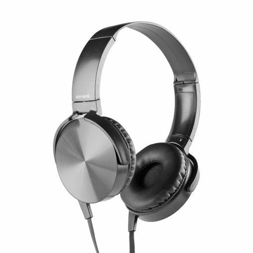 MF Product Acoustic 0106 Mikrofonlu Kablolu Kulak Üstü Kulaklık Siyah resmi