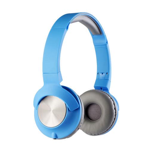 MF Product Acoustic 0107 Mikrofonlu Kablolu Kulak Üstü Kulaklık Mavi resmi