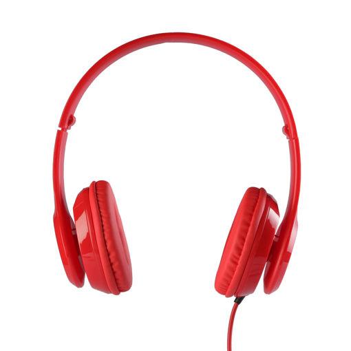 MF Product Acoustic 0135 Mikrofonlu Kulak Üstü Kablolu Kulaklık Kırmızı resmi