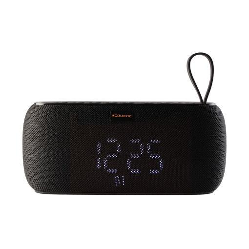 MF Product Acoustic 0223 Saatli Alarmlı Kablosuz Bluetooth Hoparlör Siyah resmi