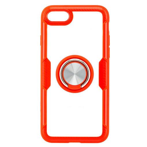 MF Product Jettpower 0299 Yüzüklü Telefon Kılıfı iP7/8/ SE 2 Uyumlu Kırmızı resmi