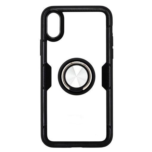 MF Product Jettpower 0303 Yüzüklü Telefon Kılıfı iP X/Xs Uyumlu Siyah resmi