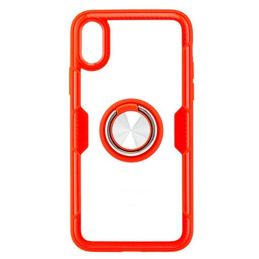MF Product Jettpower 0303 Yüzüklü Telefon Kılıfı İp X/Xs Uyumlu Kırmızı resmi