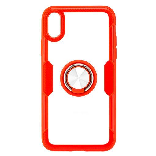 MF Product Jettpower 0305 Yüzüklü Telefon Kılıfı iP Xr Uyumlu Kırmızı resmi
