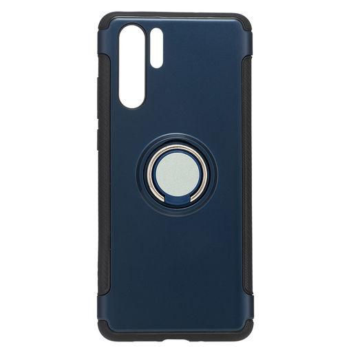 MF Product Jettpower 0337 Yüzüklü Telefon Kılıfı Huawei P30 Pro Koyu Mavi resmi