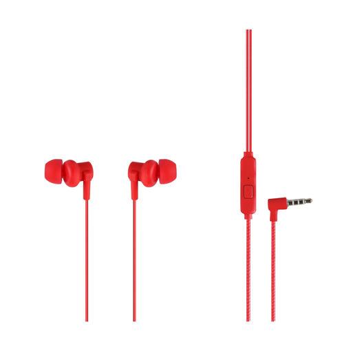 MF Product Acoustic 0086 Mikrofonlu Kablolu Kulak İçi Kulaklık Kırmızı resmi