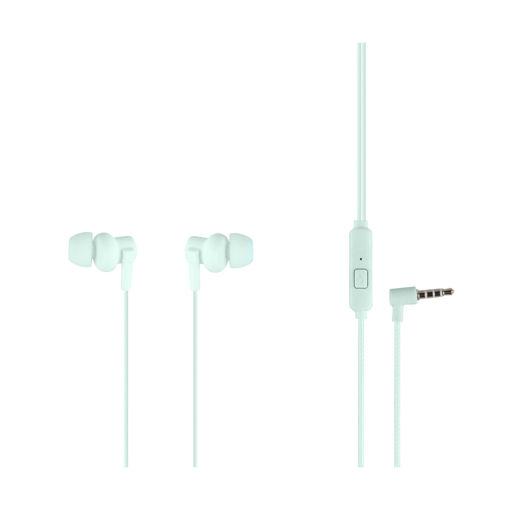 MF Product Acoustic 0086 Mikrofonlu Kablolu Kulak İçi Kulaklık Yeşil resmi