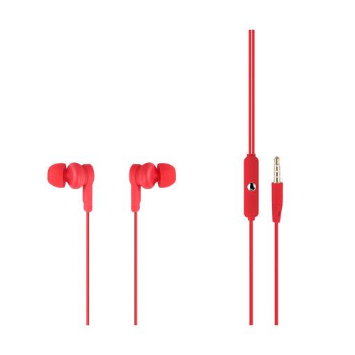 MF Product Acoustic 0089 Mikrofonlu Kablolu Kulak İçi Kulaklık Kırmızı resmi