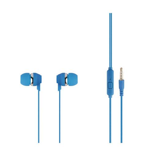 MF Product Acoustic 0092 Mikrofonlu Kablolu Kulak İçi Kulaklık Mavi resmi