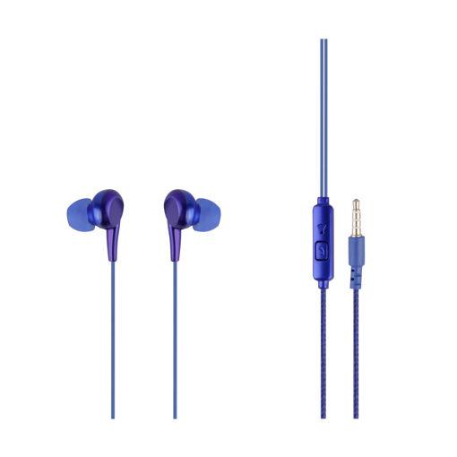 MF Product Acoustic 0093 Mikrofonlu Kablolu Kulak İçi Kulaklık Mavi resmi
