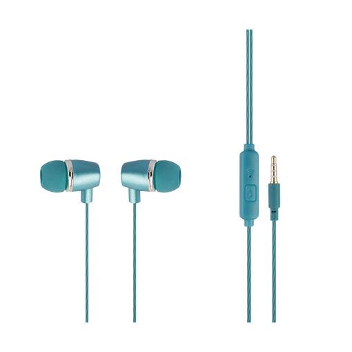 MF Product Acoustic 0095 Mikrofonlu Kablolu Kulak İçi Kulaklık Mavi resmi