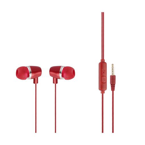 MF Product Acoustic 0095 Mikrofonlu Kablolu Kulak İçi Kulaklık Kırmızı resmi