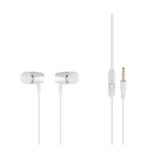 MF Product Acoustic 0100 Mikrofonlu Kablolu Kulak İçi Kulaklık Koyu Beyaz resmi