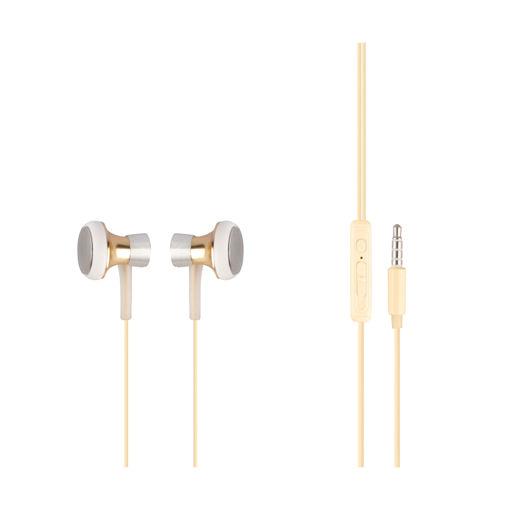 MF Product Acoustic 0153 Mikrofonlu Kablolu Kulak İçi Kulaklık Gold resmi