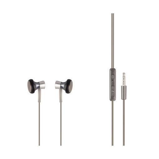 MF Product Acoustic 0153 Mikrofonlu Kablolu Kulak İçi Kulaklık Gümüş resmi