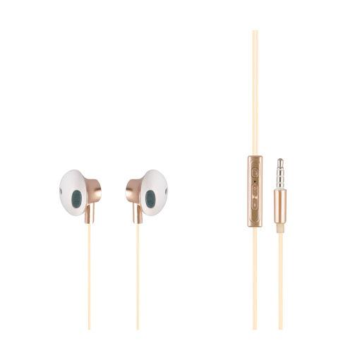MF Product Acoustic 0154 Mikrofonlu Kablolu Kulak İçi Kulaklık Gold resmi