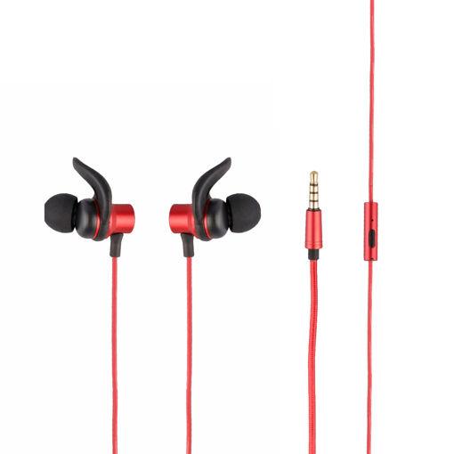 MF Product Acoustic 0155 Mikrofonlu Kablolu Kulak İçi Kulaklık Kırmızı resmi
