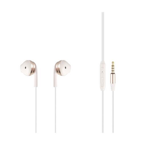 MF Product Acoustic 0156 Mikrofonlu Kablolu Kulak İçi Kulaklık Beyaz-Gold resmi