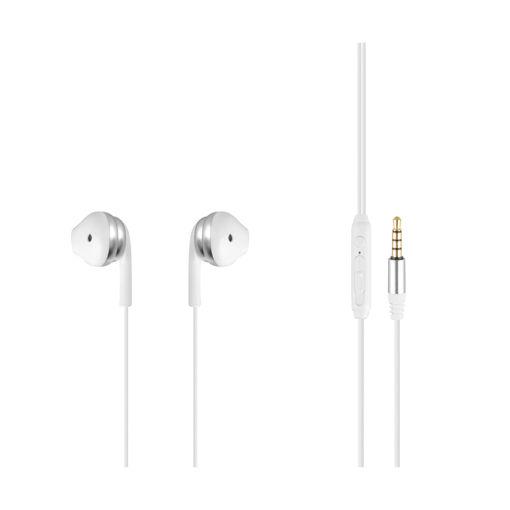 MF Product Acoustic 0156 Mikrofonlu Kablolu Kulak İçi Kulaklık Beyaz-Gri resmi