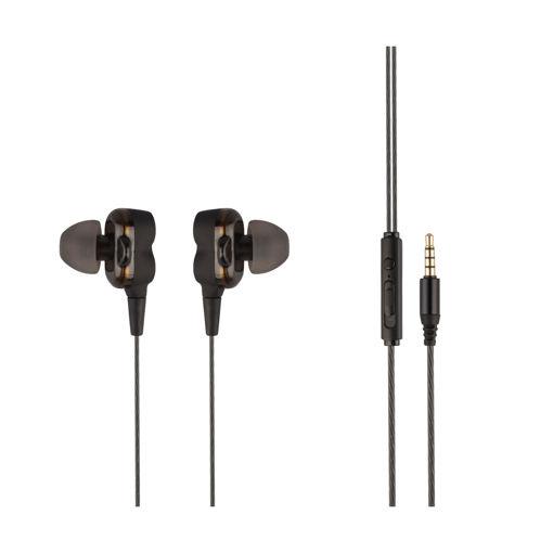 MF Product Acoustic 0157 Mikrofonlu Kablolu Kulak İçi Kulaklık Siyah resmi