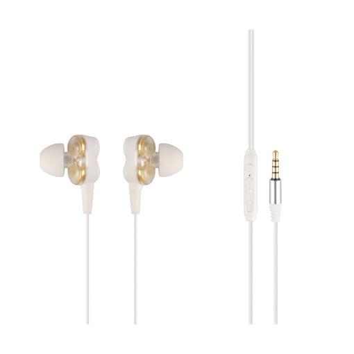 MF Product Acoustic 0157 Mikrofonlu Kablolu Kulak İçi Kulaklık Beyaz resmi