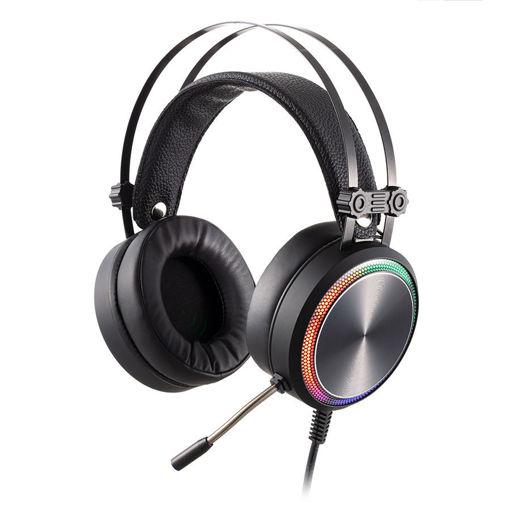 MF Product Strike 0160 Rgb Kablolu Kulak Üstü Oyuncu Kulaklığı 7.1 Usb Siyah resmi