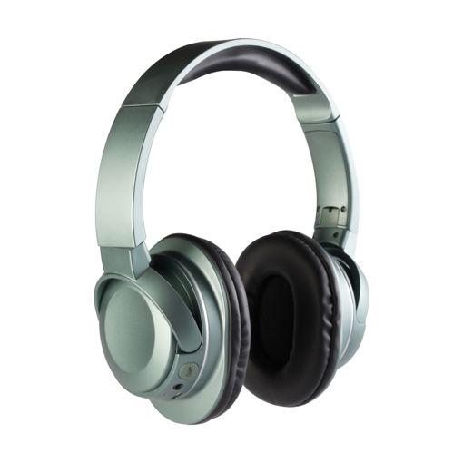 MF Product Acoustic 0127 Mikrofonlu Kulak Üstü Kablosuz Bluetooth Kulaklık Yeşil resmi