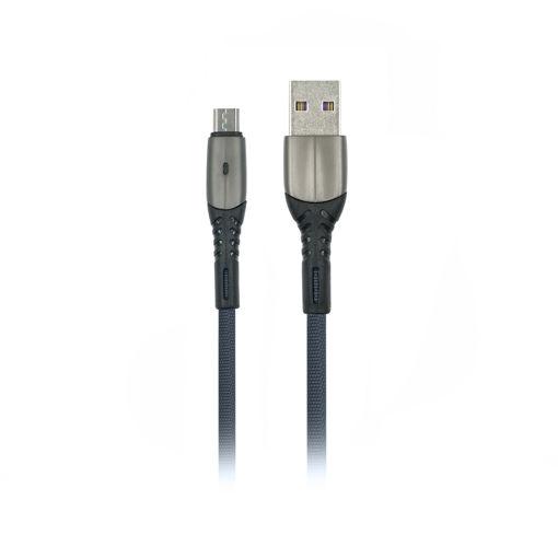 MF Product Jettpower 0035 Metal Başlıklı Örgülü 2.4A Micro Usb Hızlı Şarj Kablosu 1 m Gri resmi