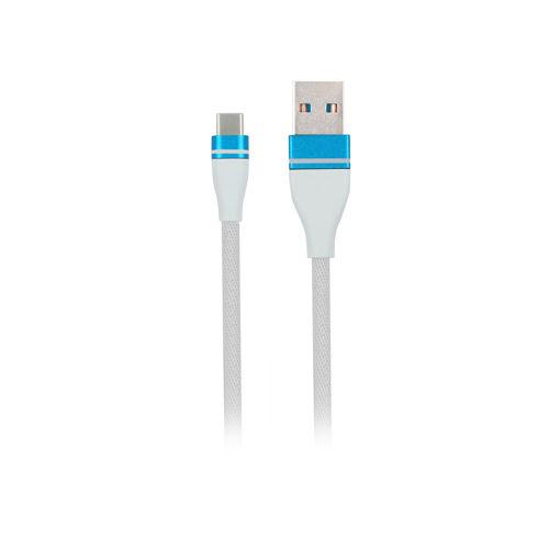 MF Product Jettpower 0058 Metal Başlıklı Örgülü 2.4A Type-C Hızlı Şarj Kablosu 2 m Beyaz resmi