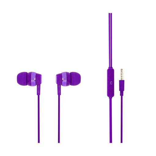 MF Product Acoustic 0090 Mikrofonlu Kablolu Kulak İçi Kulaklık Mor resmi