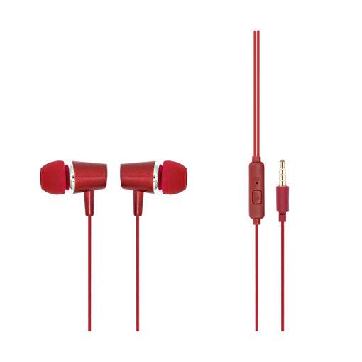 MF Product Acoustic 0085 Mikrofonlu Kablolu Kulak İçi Kulaklık Kırmızı resmi