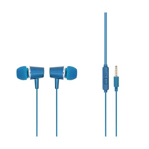 MF Product Acoustic 0085 Mikrofonlu Kablolu Kulak İçi Kulaklık Mavi resmi