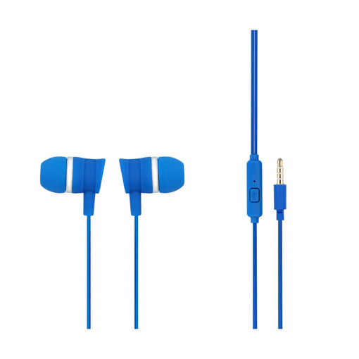 MF Product Acoustic 0087 Mikrofonlu Kablolu Kulak İçi Kulaklık Mavi resmi