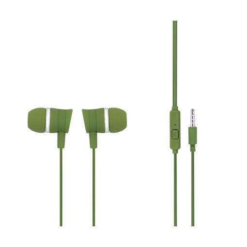 MF Product Acoustic 0087 Mikrofonlu Kablolu Kulak İçi Kulaklık Yeşil resmi