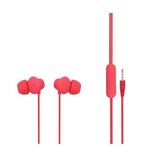 MF Product Acoustic 0088 Mikrofonlu Kablolu Kulak İçi Kulaklık Kırmızı resmi