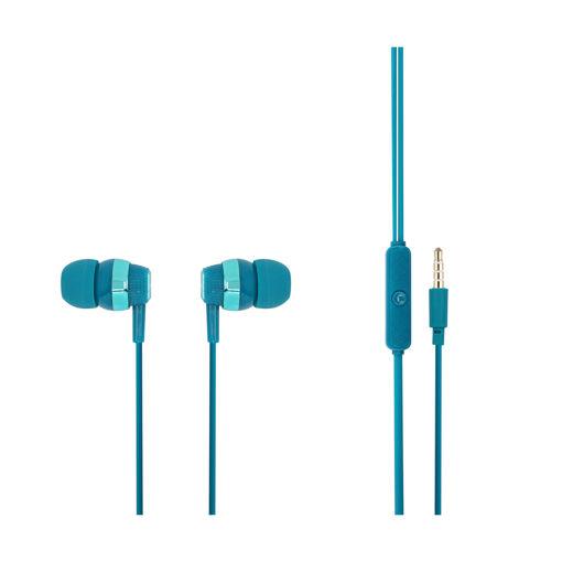 MF Product Acoustic 0090 Mikrofonlu Kablolu Kulak İçi Kulaklık Mavi resmi