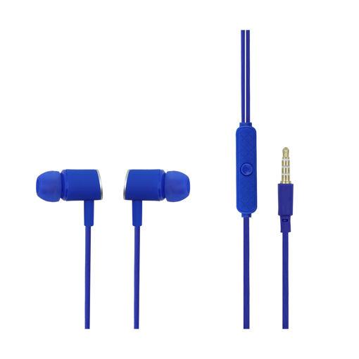 MF Product Acoustic 0091 Mikrofonlu Kablolu Kulak İçi Kulaklık Mavi resmi