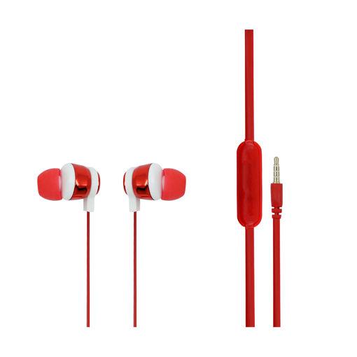 MF Product Acoustic 0096 Mikrofonlu Kablolu Kulak İçi Kulaklık Kırmızı resmi