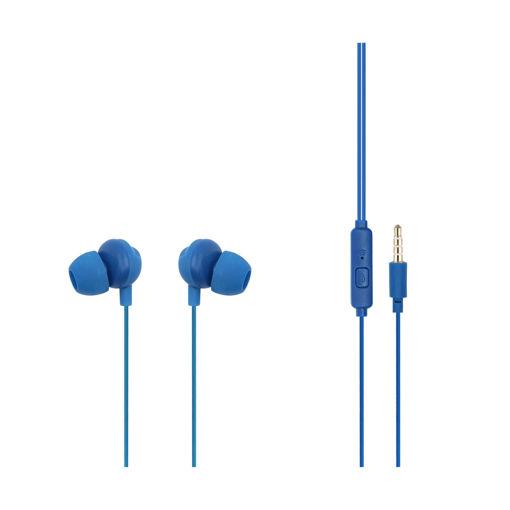 MF Product Acoustic 0097 Mikrofonlu Kablolu Kulak İçi Kulaklık Mavi resmi