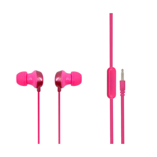 MF Product Acoustic 0098 Mikrofonlu Kablolu Kulak İçi Kulaklık Pembe resmi