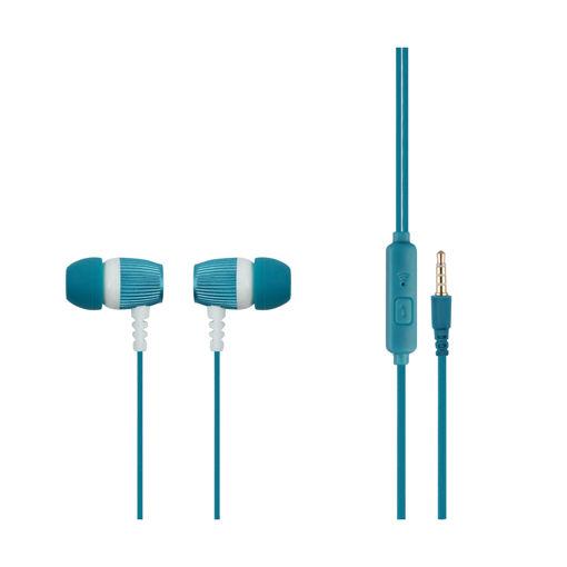 MF Product Acoustic 0101 Mikrofonlu Kablolu Kulak İçi Kulaklık Koyu Mavi resmi