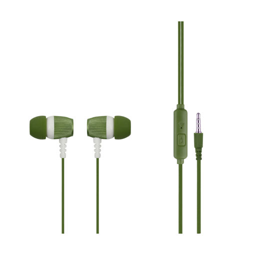 MF Product Acoustic 0101 Mikrofonlu Kablolu Kulak İçi Kulaklık Koyu Yeşil resmi