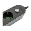 MF Product Jettpower 0366 Koruma Anahtarlı 3 USB'li 3'lü Grup Priz 2 m Uzatma Kablosu Siyah resmi
