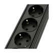MF Product Jettpower 0367 Koruma Anahtarlı 5'li Grup Priz 1.8 m Uzatma Kablosu Siyah resmi