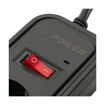 MF Product Jettpower 0368 Koruma Anahtarlı 2 USB'li 5'li Grup Priz 1.8 m Uzatma Kablosu Siyah resmi